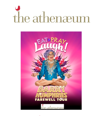Eat Pray Laugh at The Athenaeum