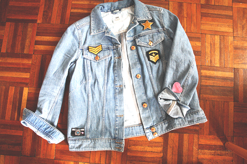 Customise a denim jacket