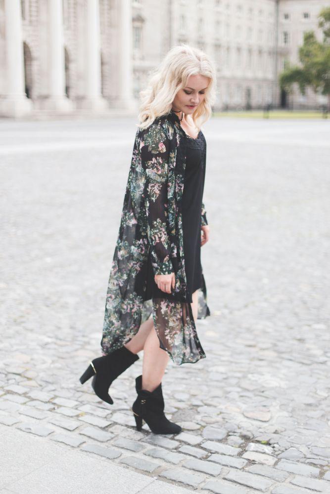 Black Slip Dress – Styling for Autumn Winter 2016