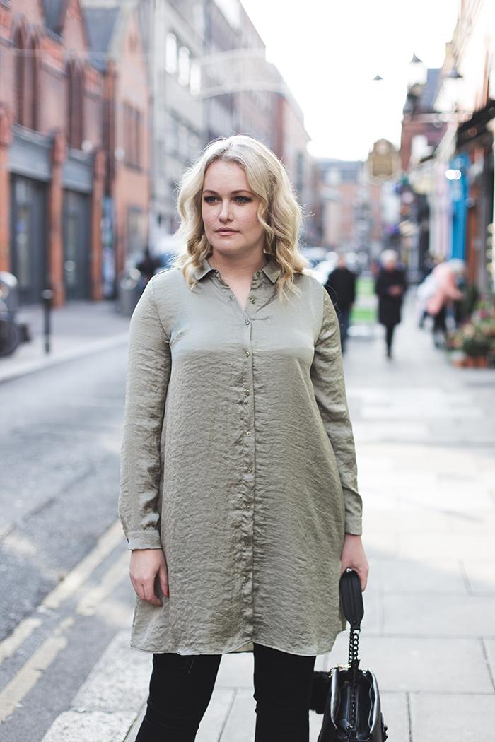Lorna Weightman wears Penneys Silk Shirt Dress