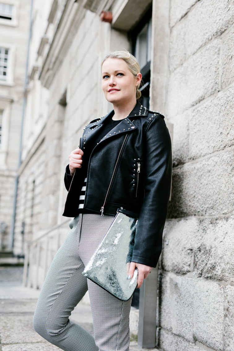 Styling a Studded Leather Jacket