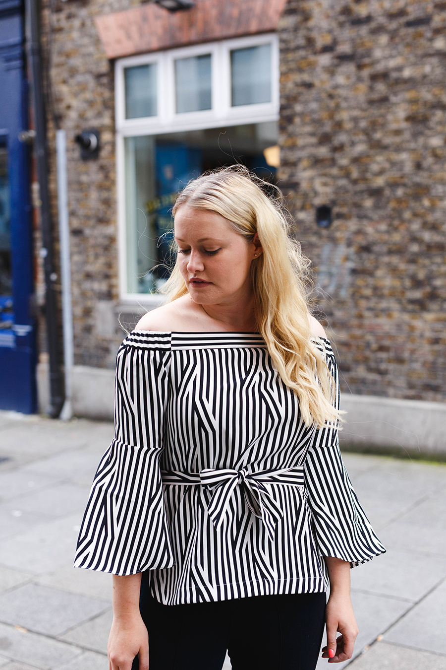 How to wear stripes with Karen Millen