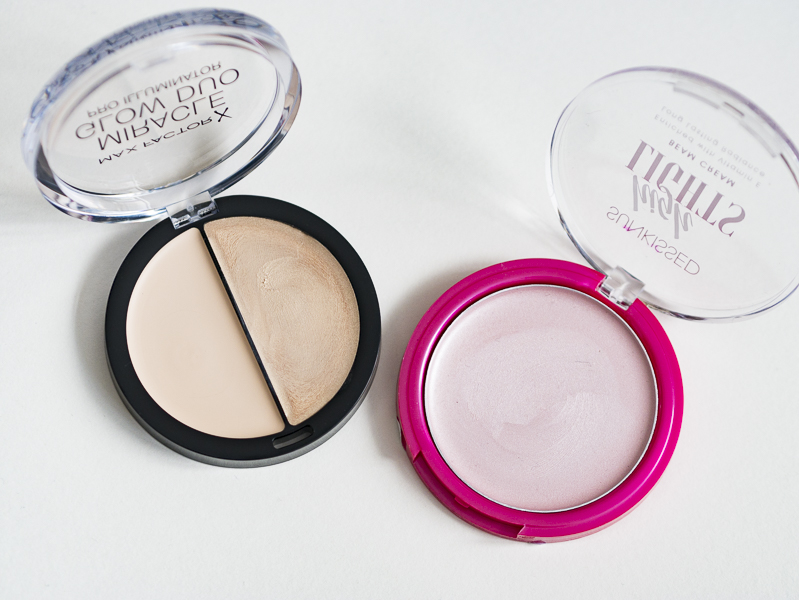 Highlighters from Max Factor and Sunskissed