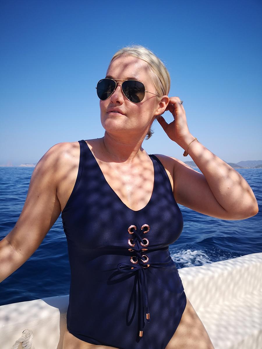 Lorna Weightman in Ibiza with Huawei