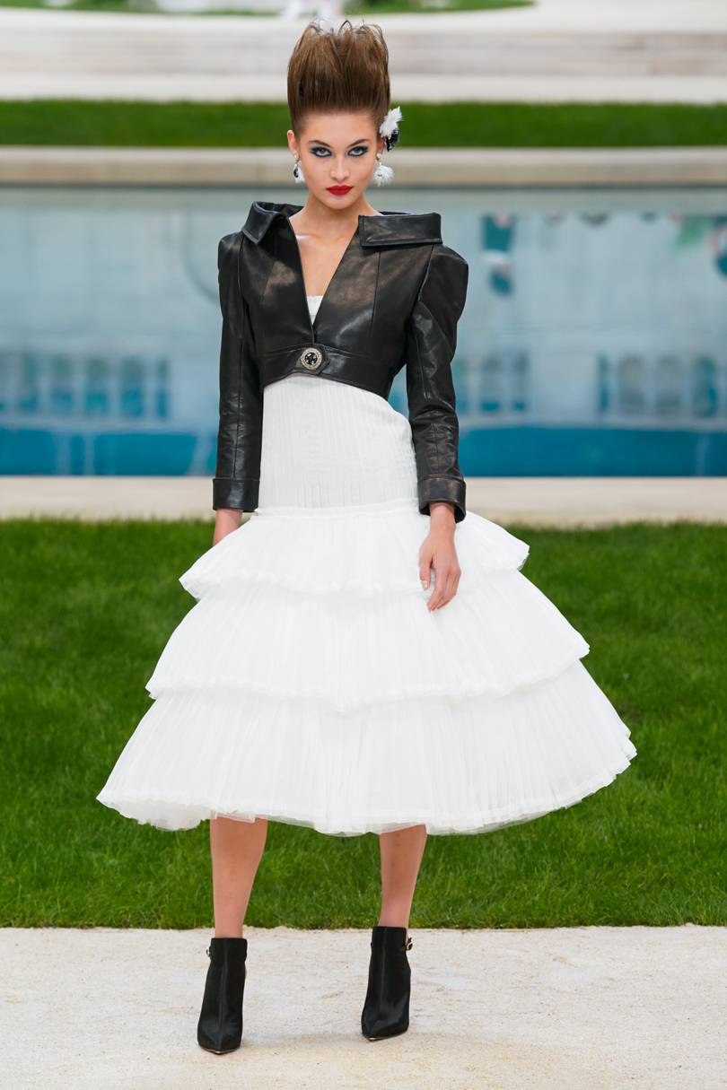 Chanel Couture 2019 Monochrome Look