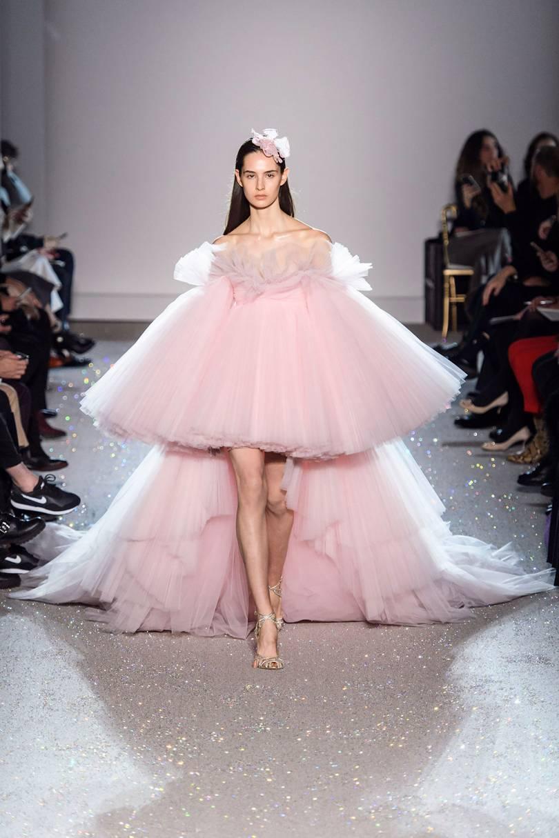 Giambattista Valli Spring Couture 2019 Pink Tulle