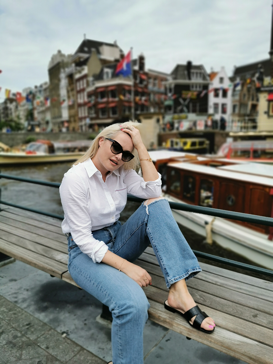 Lorna Weightman wearing summer sandals