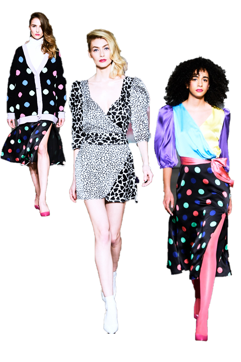 Image of three models wearing Olivia Rubin AW2020